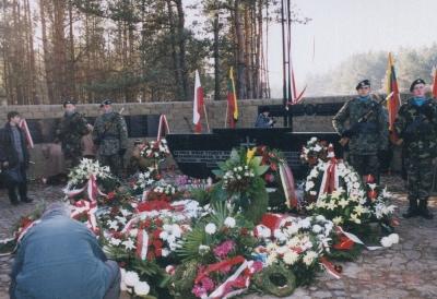 Warta honorowa przy ołtarzu 22.10.2000