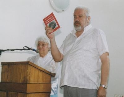 Helena Pasierbska i Ryszard Mackiewicz na spotkaniu